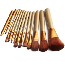 Golden 12 Pcs/lot Make Up Brushes Set Foundation Face&Eye Powder Blusher Professional Pinceaux Cosmetics Makeup Brush Maquiagem