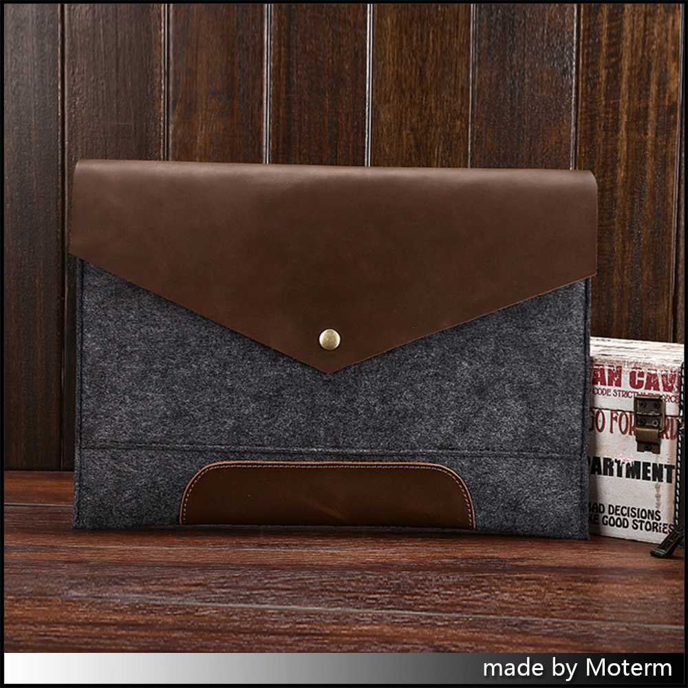 Original vintage leather filing products Business Mens File Envelope Package Crazy horse vintage Retro style free shipping<br>