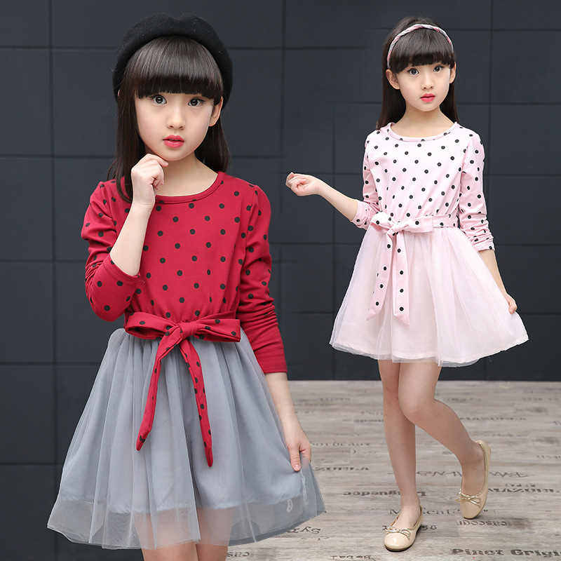 2017 spring summer style girls dress fashion cartoon kids dress bow veil Kids love Princess Dress Skirt childrens clothing <br><br>Aliexpress
