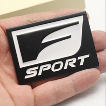 3D Metal F Sport F-Sport Auto Car Rear Side Emblem Badge Decal Sticker For IS250 CT200 ES RX