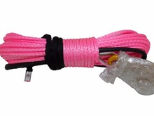 Pink 10mm*30m 12plait Synthetic Winch Rope,ATV Winch Cable 10mm,Boat Winch Rope,Off Road Rope