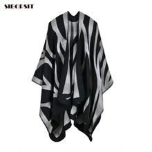 [SIBORSIT] 2017 scarf for women Warm Cashmere scarf Camouflage Gradient color ponchos capes Great sofa Blankets Stoles,scarves