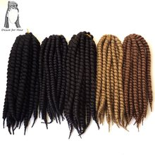 "4packs per lot 12"" 75g 12strands per pack synthetic crochet braiding hair mambo twist havana braids extensions(China)"