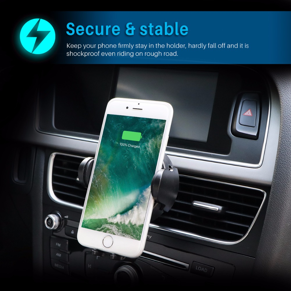 Quality QI Wireless Charger Automatic Infrared Sensor Car auto holder 4
