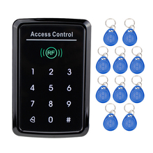 125KHz RFID door access control board with touch keypad panel with 10 key chains key tags for electric lock system(China)