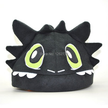 Free Shipping EMS 30/Lot New How To Train Your Dragon Toothless Night Fury Hat Cap #1 Plush Soft Toy