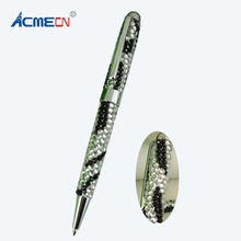 ACMECN New Hot Sale Fashion Rhinestone Ballpoint Pen Cute Zebra Pattern Cute MB Style Pens Jewelled Crystal Bling Ball Pen