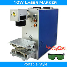 10W 110*110mm Optical fiber laser marking machine CX portable desktop for metal label marking rings stainless steel