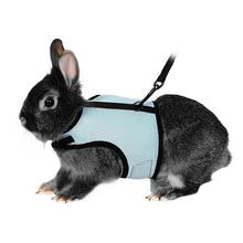 Funny Pet Supplies Soft Harness With Lead For Rabbits Bunny Little Pets(China)