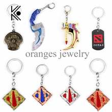 dota 2 keychain pudge toys set New Game Dota2 weapons sword Talisman props ornaments car styling decor gift for player game gift(China)