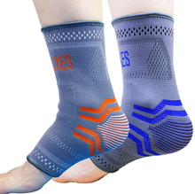 Recommend! elastic ankle support ankle protector volleyball/soccer ankle brace support foot protection 2 pcs/lot(China)
