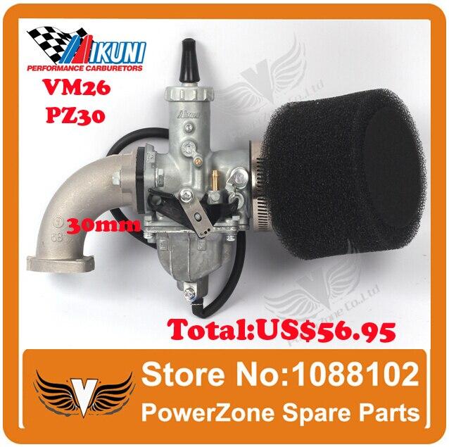 MIKUNI Carburetor VM26 PZ30 Kit  + Mainfold Intake Pipe Air Filter 200cc 250cc Dirt Bike BSE IRBIS KAYO Motorcycle Carburetor<br><br>Aliexpress