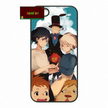 Studio Ghibli Howl's Moving Castle Cover case for iphone 4 4s 5 5s 5c 6 6s plus samsung galaxy S3 S4 mini S5 S6 Note 2 3 4 z1100(China)