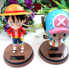 4 Pieces Per Lot Retail Package Shaking Head Under Full Light No Battery Cartoon Style Novelty Rocking Solar Energy Toys(China)