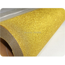 Pu based Glitter Heat Transfer Vinyl sheets For T shirt CDG-02 Gold 2m/ lot free shipping
