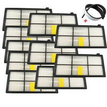 10PCS HEPA Filter Replacements for Irobot Roomba 800 900 series 870 880 980 Filters +1 Bumper Strip Robotic Vacuum Cleaner(China)