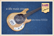 Top Quality Music Man Bass 5 Strings Guitar Elm Natural Wood China Music Instrument Factory In Stock
