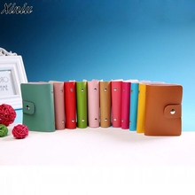 High Quality Men's Wallet Leather Visiting Cards Credit Card Holder Case Wallet Business Card Package Women's Handbags Hot Sale(China)