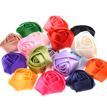 10PCS Rose Bud Flower Rosette Flowers Little s Hair Accessories Flower Bouquet Bud Fake Artificial Flowers(China)