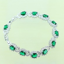 Reginababy Green created Emerald Bracelets For Women Angelic Silver color Crystal Jewelry B0002