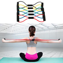 Buy Hot Yoga Fitness Resistance 8 Type Muscle Chest Expander Rope Workout Fitness Exercise Yoga Tube Yoga Sports Pilates Band for $1.35 in AliExpress store
