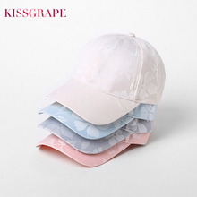 Top Brand Summer Women's Baseball Caps Ladies Outdoor Sport Hats Female Girls Fashion Street Cotton Flower Caps Pink Blue Hats