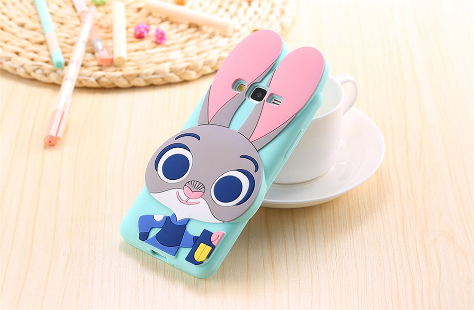 3D Cartoon Soft Silicone Case for Samsung Galaxy S5 S6 S7 edge S8 Plus Note 8