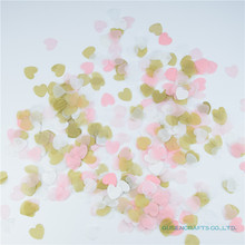 Hot!!!1500PCS golden,white,light pink Paper Heart Confetti Wedding Confetti For Birthday Party Wedding Table Decoration Supplies(China)