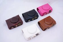 5 Colors Black/White/Brown/Pink Camera Case Bag Leather Case Cover for Digital Camera Fuji Fujifilm XQ1 Free Shipping