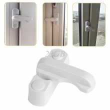 Plastic Child Safe Security Window Door Sash Lock Safety Lever Handle Sweep Latch A15_15