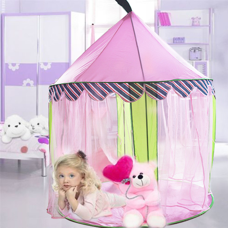 Pink Princess Girls Tent Outdoor Indoor Games Play Tents For Kids Castle Mosquito-Net Christmas Gift Teepee Barraca Infantil<br><br>Aliexpress
