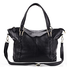 Famous Brand Design Women Handbag Genuine Leather Tote Bag Large Women's Real Leather Bag Shoulder Bag Female Bags Business Trip(China)