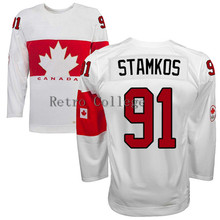 Embroidery stitching retro throwback #91 Steven Stamkos Team Canada Hockey jersey Customize any size player name number(China)