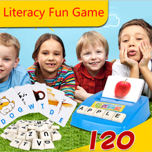 English Word IQ Puzzle Toys for child Early Learning Montessori Educational Literacy Fun Game Baby letters card Learning Machine(China)