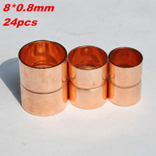 8mm X 0.8mm Straight Coupling/Copper Fittings/Pipe Fittings 24pcs