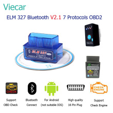 Viecar ELM 327 Mini bluetooth V2.1 OBD2 ELM327 Scan Tool Eml327 Car Diagnostic Tool OBDII Scanner Diagnostic-Tool OBD 2 Adapter(China)