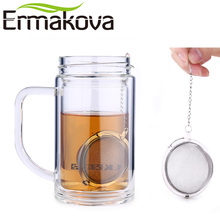 ERMAKOVA 3 Pcs/Lot Stainless Steel 2 Inch Mesh Tea Ball Infuser Tea Strainer Filter with Hook Tea Mesh Ball Filter Tea Infuser(China)