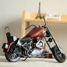 Bar Zakka for Vintage Retro Ornaments Metal Motorcycle Model Home Decor Antique Simulation Gifts & Crafts free Shipping