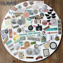 KLJUYP 80pc Travel Adventure Cardstock Die Cuts for Scrapbooking Happy Planner/Card Making/Journaling Project