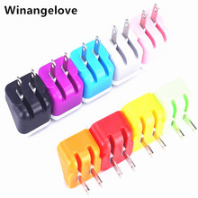 Winangelove 100pcs US Mini Folding USB AC Power Adapter Wall Charger For iPhone 7 6 5 5S 5C 4 4S 3G for Samsung s7 s6