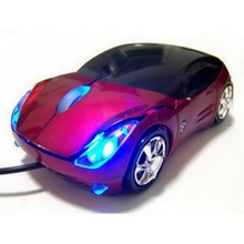Red Mouse Car Shaped USB Wired Optical Mouse for Notebook Laptop PC