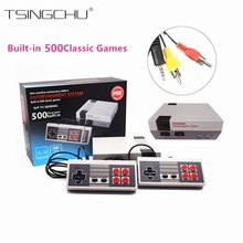 Retro Classic Family TV Handheld Game Players Built-in 500 Classic NES Games Dual Gamepads Mini TV Video Game Console PAL+NTSC(China)