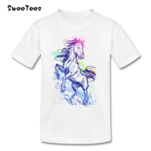 Brave Horse T Shirt baby Cotton Short Sleeve Round Neck Tshirt children's Tee-shirt 2017 Discount T-shirt For boys girls(China)