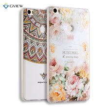 Super 3D Relief Printing Clear Soft TPU Case For Huawei Nova 5.0 inch Phone Back Cover Ultra-thin Shell Free Ring Holder Film
