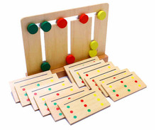 Baby Toy Montessori Wooden Toy Teaching Three Color Sorting Array Game for Early Childhood Education Preschool Training Learning(China)
