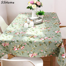 Table cloth rustic customize thickening canvas cloth dining tablecloth square rectangle