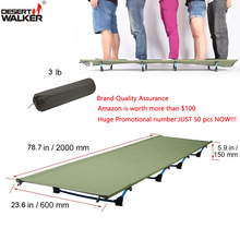 3.0LB Ultralight Folding Camp Bed 60*200CM Folding Camping Cot Mat Foldable Furniture Cot Sleeping Bed Medical Hospital Bed(China)