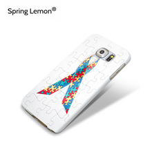 Spring Lemon Anti-Scratch Protect Hard Case Puzzle Autism Awareness Cover For Samsung Galaxy S5 S4 S3