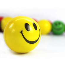 7cm Diameter Colorful Elastic Smile Ball Soft PU Stress Ball Baby Funny Toys Outdoor Fun Sports Birthday Gift
