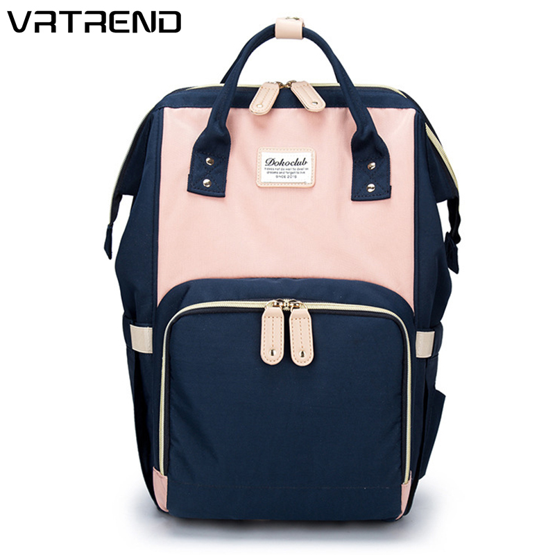 VRTREND New Capacity Mummy Maternity Bag Diaper Baby Bag Multifunctional Nursing Mummy Bag Backpack Baby Care Mom Convenient